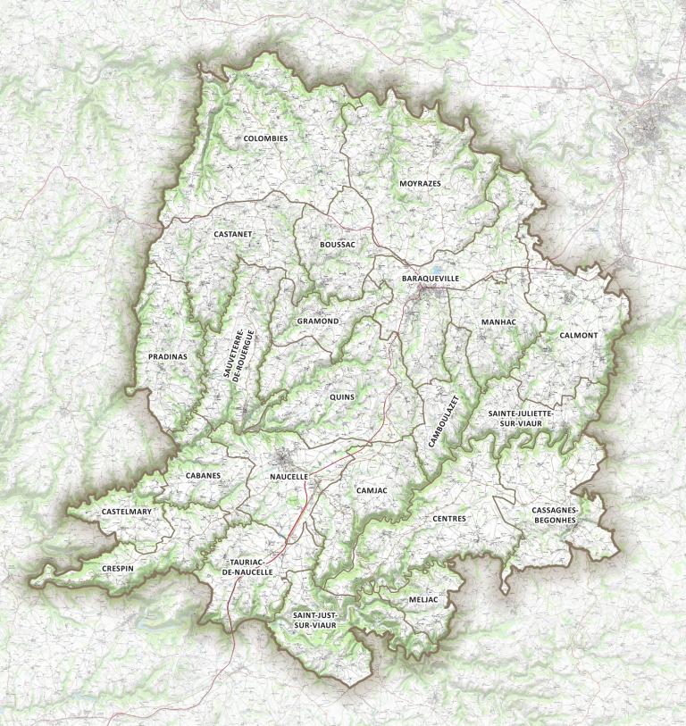 Carte du Pays Ségali