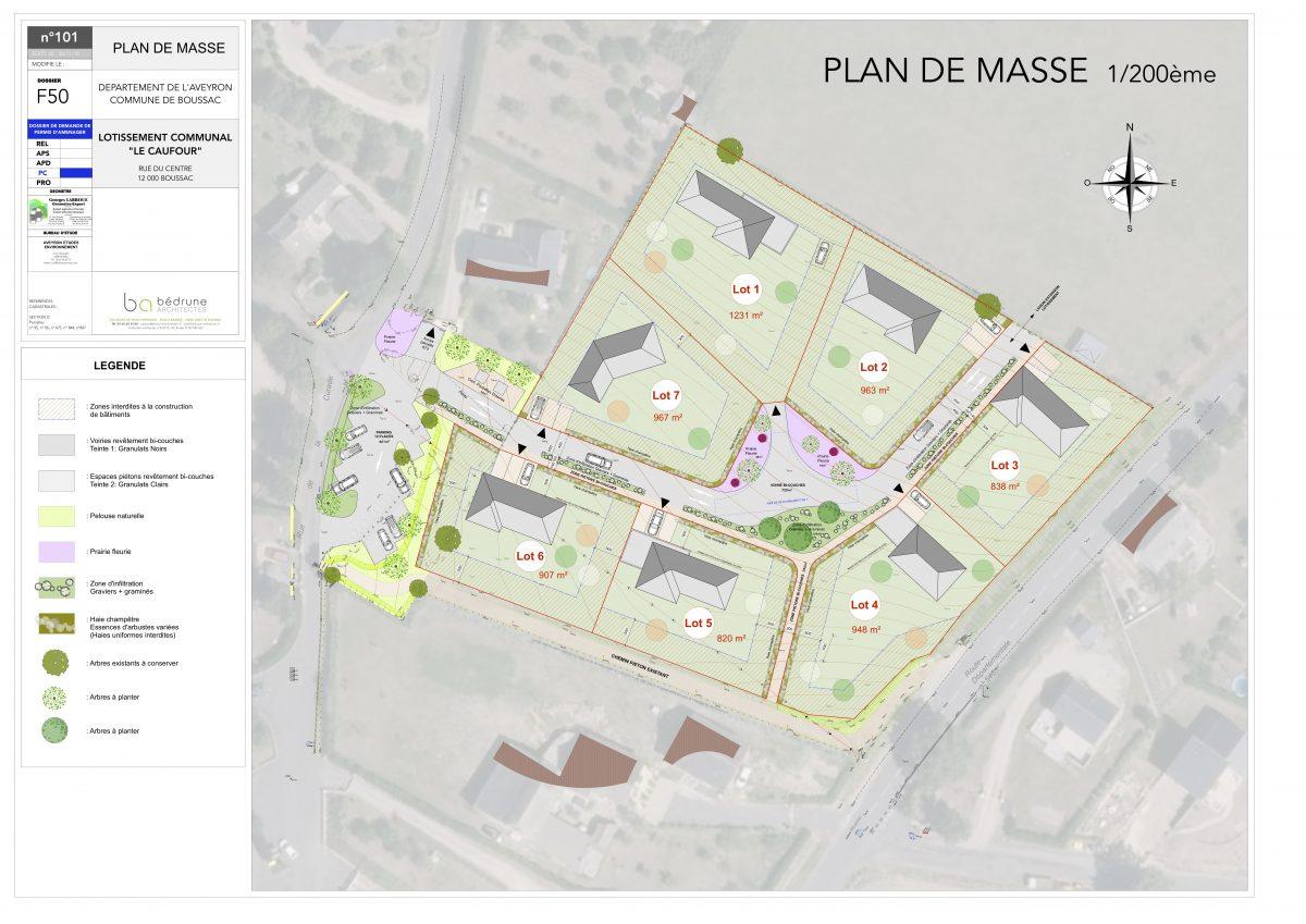 Plan du lotissement Le Caufour