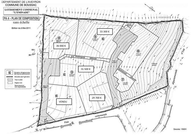 Plan du Lotissement Leminade